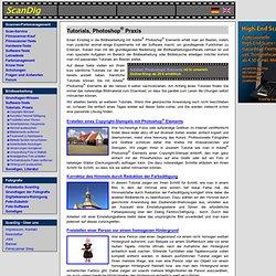 Photoshop-Tutorials, Photoshop-Workshops zur Bildbearbeitung und Bildoptimierung mit Adobe Photoshop CS und Elements
