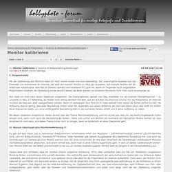 Scanner & Bildbearbeitung/Anleitungen » Monitor kalibrieren