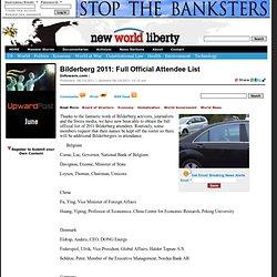 Bilderberg 2011: Full Official Attendee List