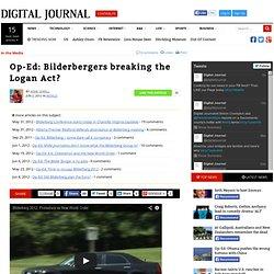 Bilderbergers breaking the Logan Act?