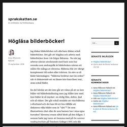 Högläsa bilderböcker! – sprakskatten.se