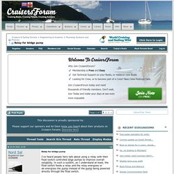 Relay for bildge pump - Cruisers & Sailing Forums