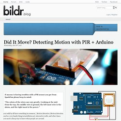Did It Move? Detecting Motion with PIR