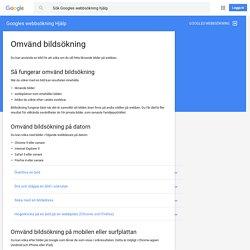Omvänd bildsökning - Googles webbsökning Hjälp