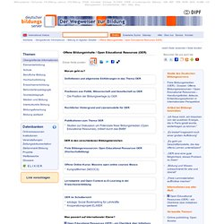 Offene Bildungsinhalte / Open Educational Resources (OER)
