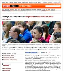 Generation Y nach Bildungsniveau, sozialer Verantwortung, Zielstrebigkeit