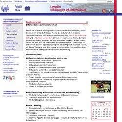 Bachelorarbeit — IfBM - Institut für Bildungswissenschaft und Medienforschung