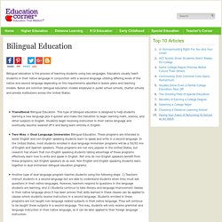 Bilingual Education in the Classroom