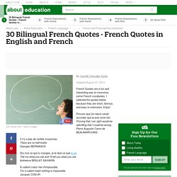 30 Bilingual French Quotes - French Quotes in English and French