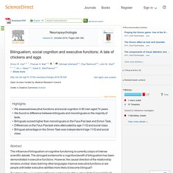 Bilingualism, social cognition and executive functions: A tale of chickens and eggs