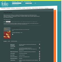 Folio bilingue - Collection de livres de poche Gallimard