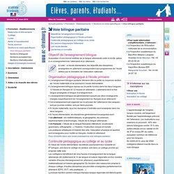Voie bilingue paritaire - Publics