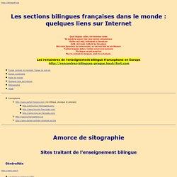 Les classes bilingues francophones dans le monde - Liens sur Internet