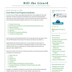 Bill the Lizard: Even More Free Programming Books