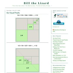Bill the Lizard: Six Visual Proofs