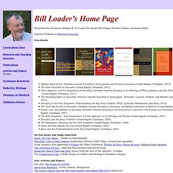 Bill Loader's Home Page