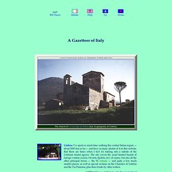 Bill Thayer's Gazetteer of Italy