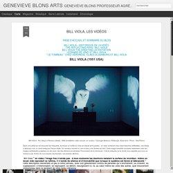 GENEVIEVE BLONS ARTS: BILL VIOLA, LES VIDÉOS