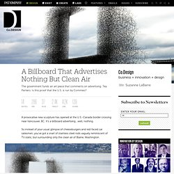 A Billboard That Advertises Nothing But Clean Air | Co.Design