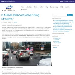 Is Mobile Billboard Advertising Effective? - CantMiss
