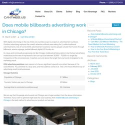 Does mobile billboards advertising work in Chicago? - CantMiss