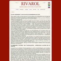 """RIVAROL : Les néo-""""nationalistes"""" corses au service du mondialisme pur et dur"""