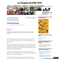 Le billet des hybrides « Le Congrès de l'ABF 2009