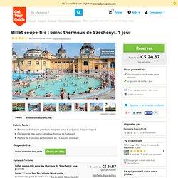 Billet coupe-file : bains thermaux de Széchenyi. 1 jour