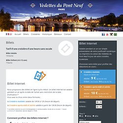 Seine Promenade - Bateaux Les Vedettes du Pont-Neuf, visite touristique de Paris