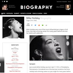 Billie Holiday - Singer