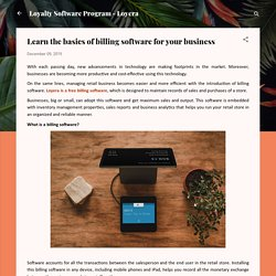 Learn the basics of billing software for your business