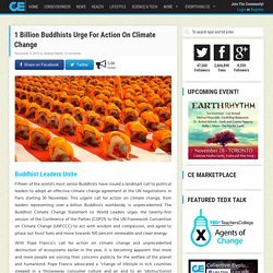 1 Billion Buddhists Urge For Action On Climate Change