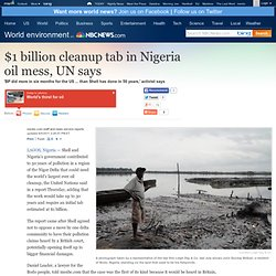 Shell admits liability for huge Nigeria oil spill - World news - Africa