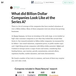 What did Billion Dollar Companies Look Like at the Series A? — Personal Growth
