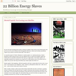 22 Billion Energy Slaves: Mental Capital: Not Losing your Marbles