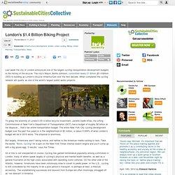 London's $1.4 Billion Biking Project