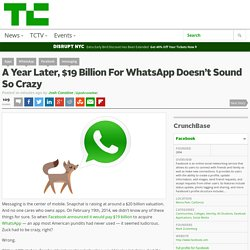 A Year Later, $19 Billion For WhatsApp Doesn't Sound So Crazy