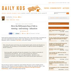 How the Billionaire boys Club is running - and ruining - education