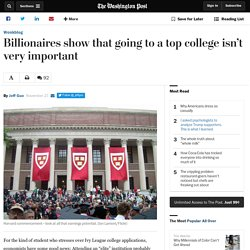 Billionaires show that going to a top college isn't very important