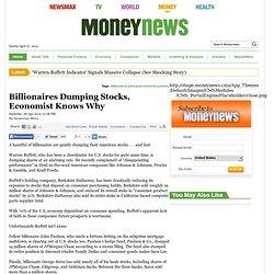 pending market correction - Billionaires Dumping Stocks