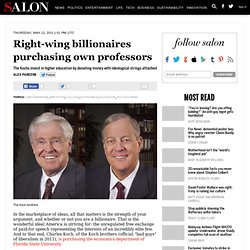 Right-wing billionaires purchasing own professors - War Room