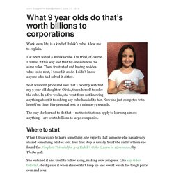 What 9 year olds do that's worth billions to corporations