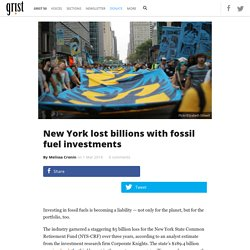 New York lost billions with fossil fuel investments