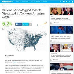 Billions of Geotagged Tweets Visualized in Twitter's Amazing Maps