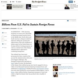 U.S.'s Billions Fail to Sustain Foreign Forces