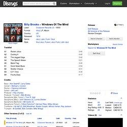 Billy Brooks - Windows Of The Mind (Vinyl, LP, Album