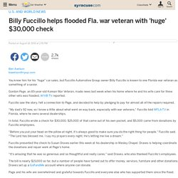 Billy Fuccillo helps flooded Fla. war veteran with 'huge' $30,000 check