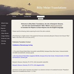 Billy Meier Translations