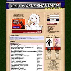 Billy Vs. SNAKEMAN Browser Game @ Anime Cubed