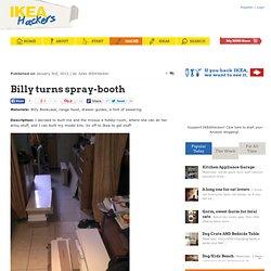 Cabine de peinture avec étagère IKEA® Billy